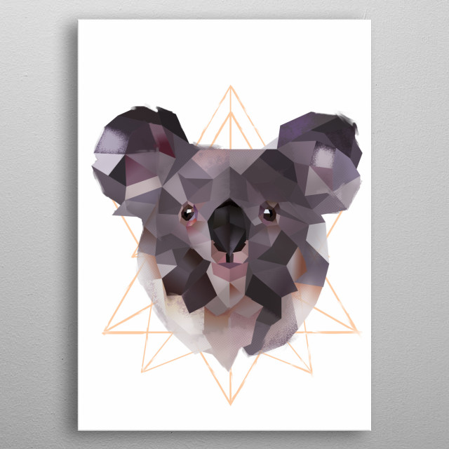 Koala metal poster