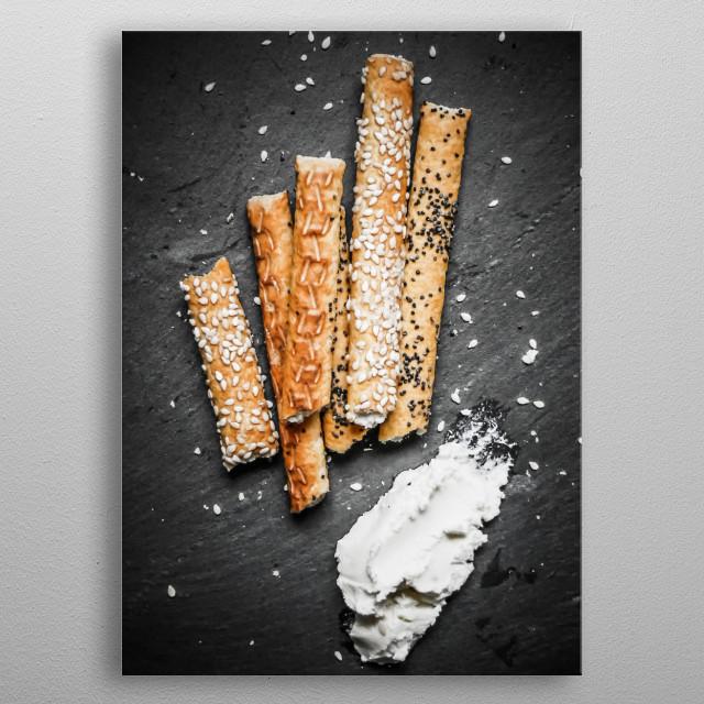 breadsticks metal poster