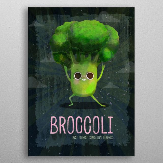 Broccoli  metal poster