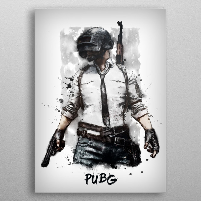 PUBG metal poster