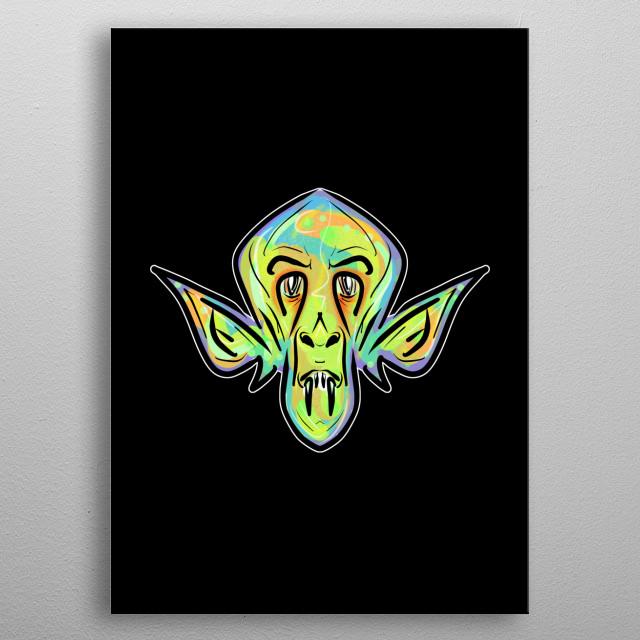 Green Demon metal poster