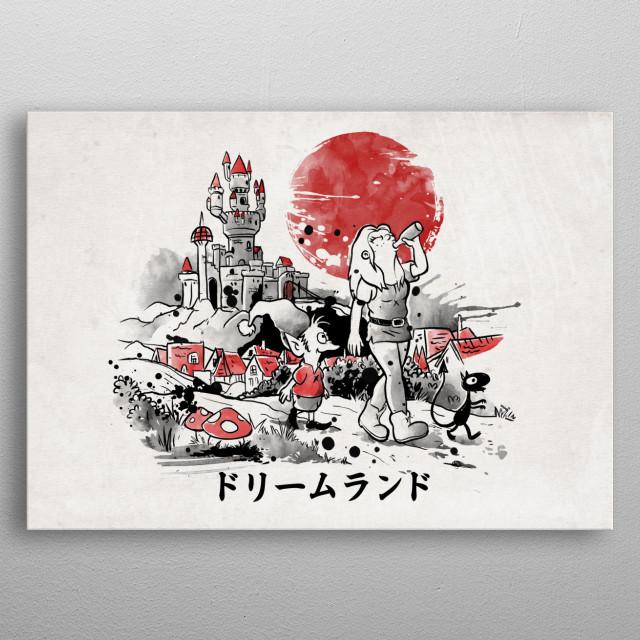Dreamland red sun metal poster