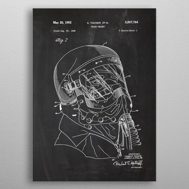 1949 Crash Helmet #1 metal poster