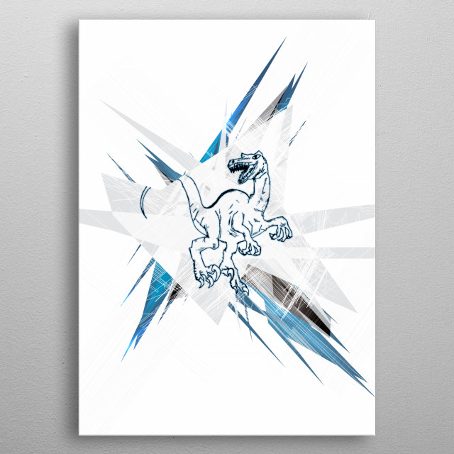 Second abstract in my modern collection. metal poster