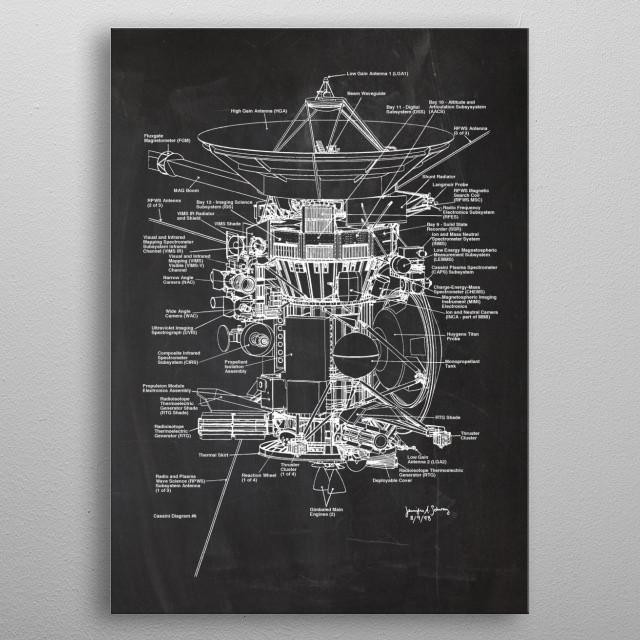 Satellite metal poster