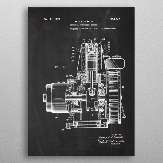 Internal Combustion Engine metal poster