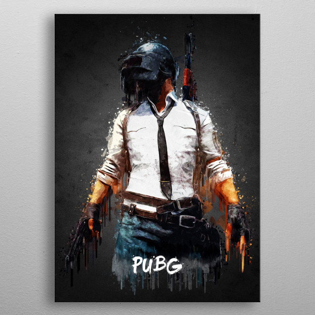 PUBG with Acrylic effects, done using Adobe Photoshop metal poster