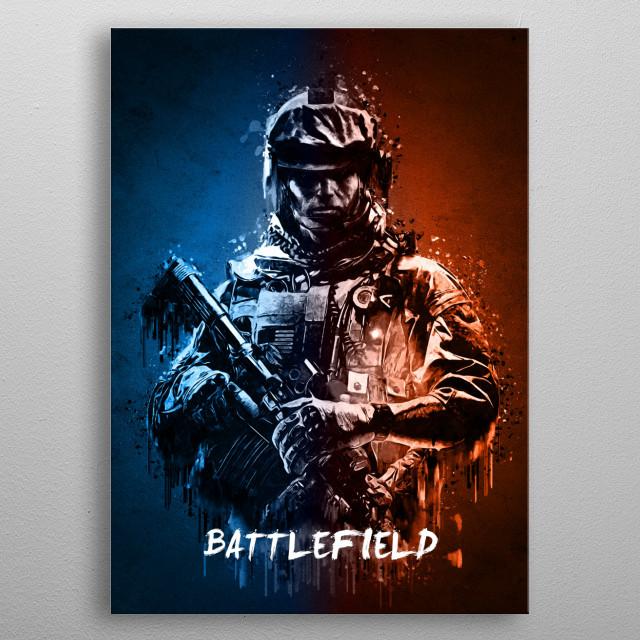 Battlefield metal poster