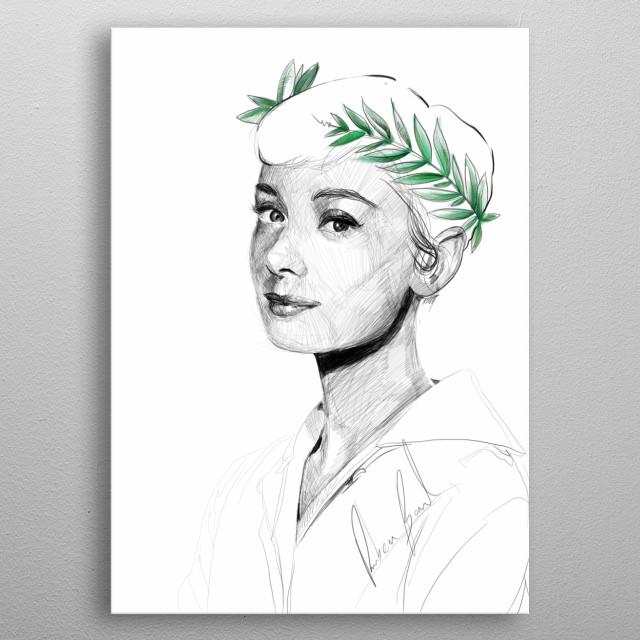 Queen Audrey metal poster