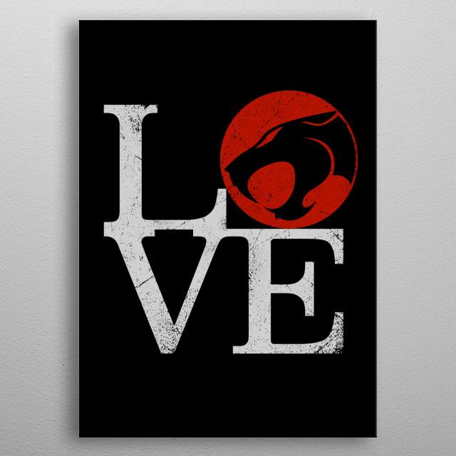 Love Hooooo! metal poster
