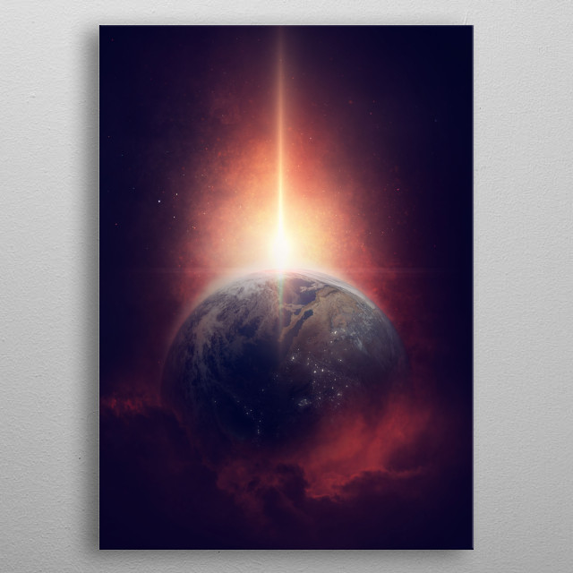Mysterious World metal poster
