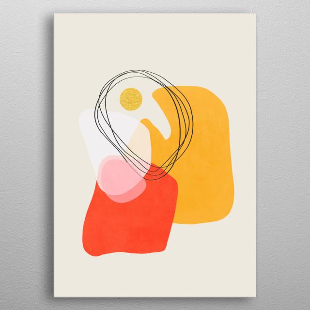 Modern minimal forms 53 metal poster