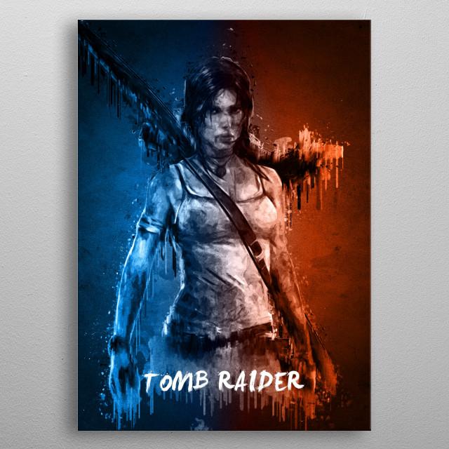 Tomb Raider metal poster