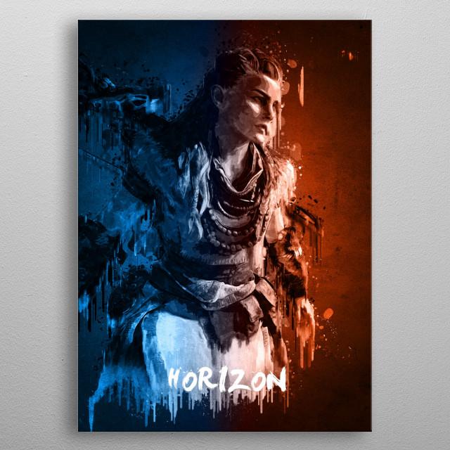 Horizon metal poster