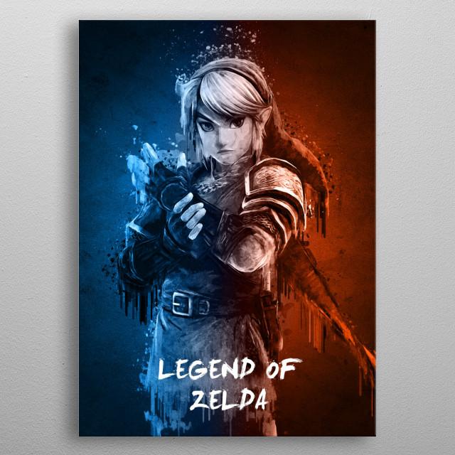 Legend of Zelda metal poster