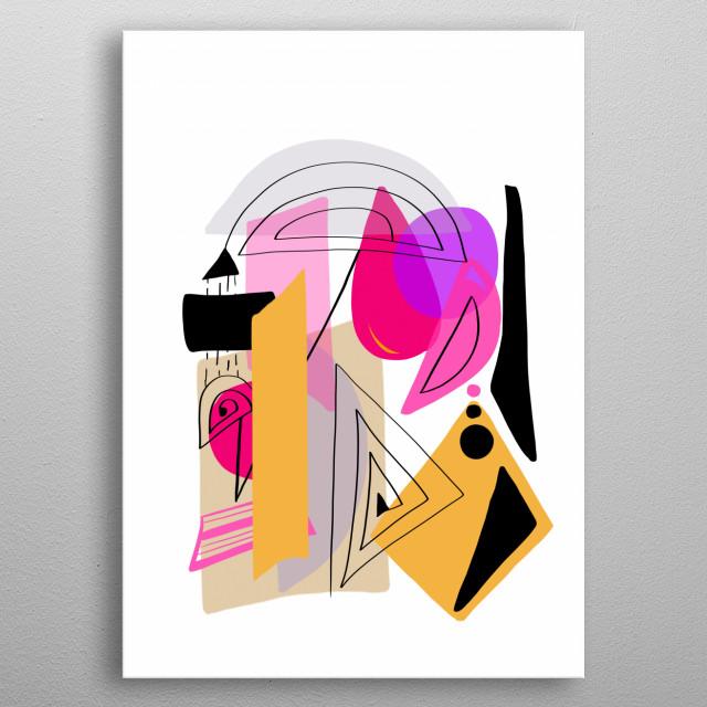 Modern minimal forms 23 metal poster
