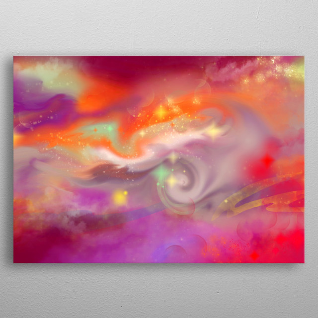 High-quality metal print from amazing Cosmos Orange Nebula collection will bring unique style to your space and will show off your personality. metal poster