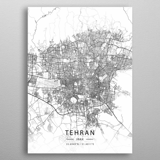 Tehran, Iran metal poster