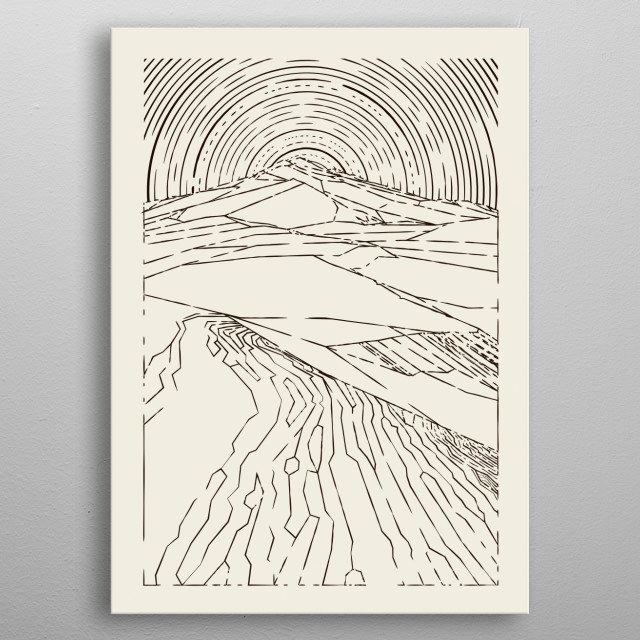 High-quality metal print from amazing Line Art collection will bring unique style to your space and will show off your personality. metal poster