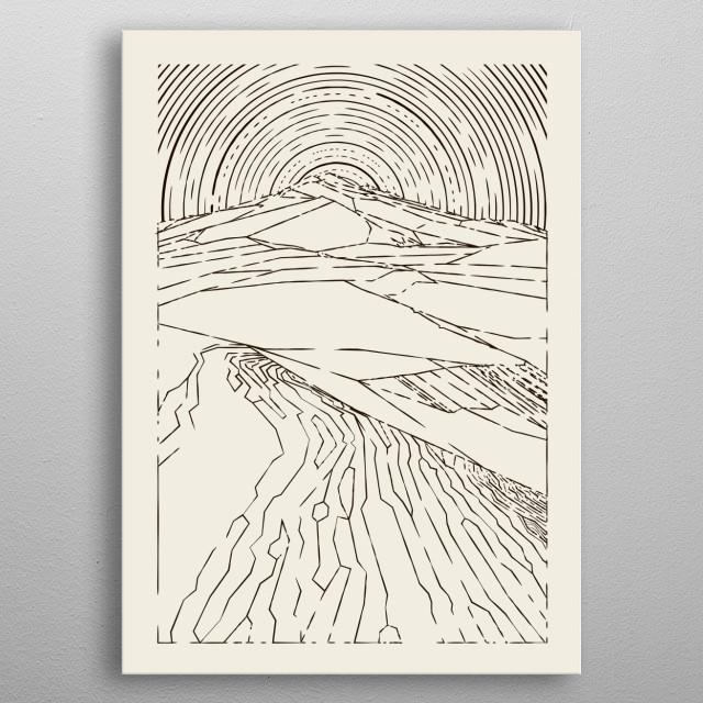 Dune metal poster