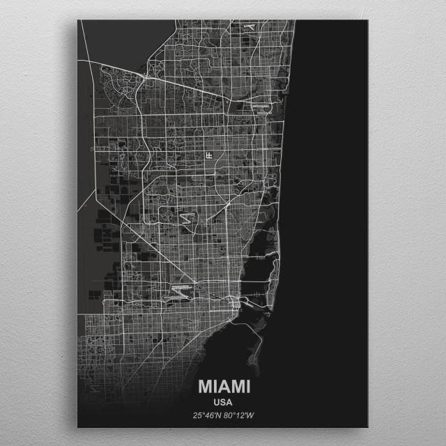 Miami - USA metal poster