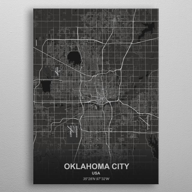 Oklahoma City - USA metal poster