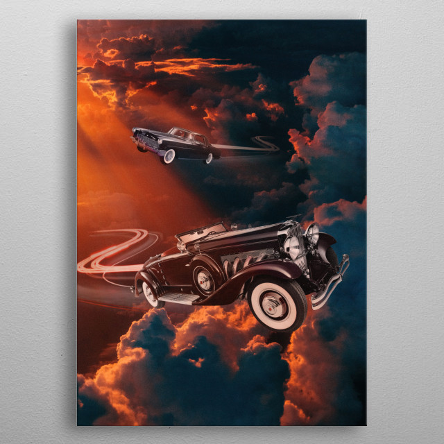 Peaceful day in the sky metal poster