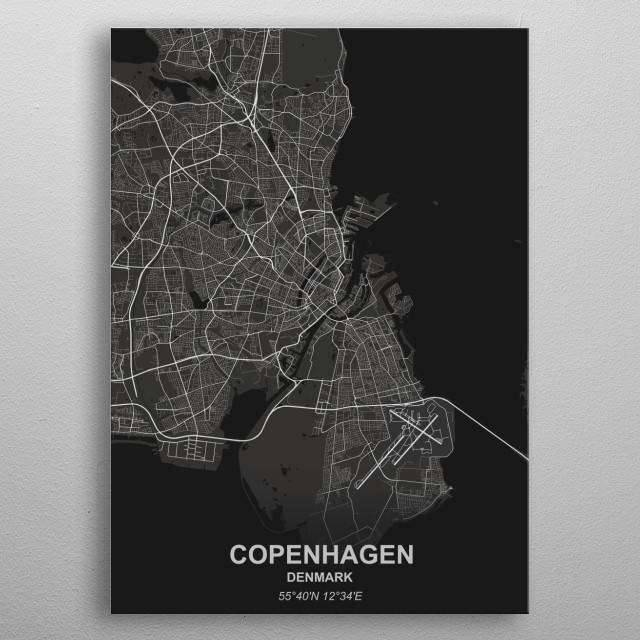 Copenhagen metal poster