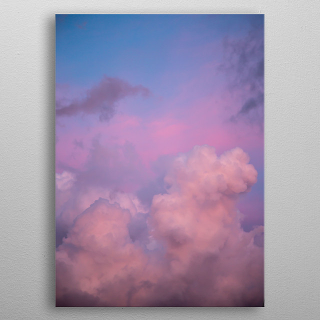 Pink and Lavender Clouds metal poster