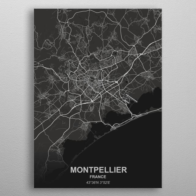 Montpellier - France metal poster