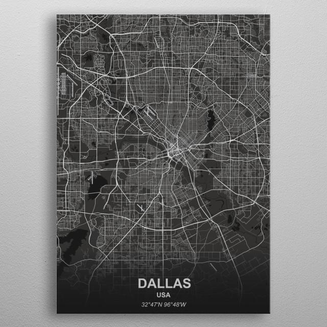 Dallas - USA metal poster