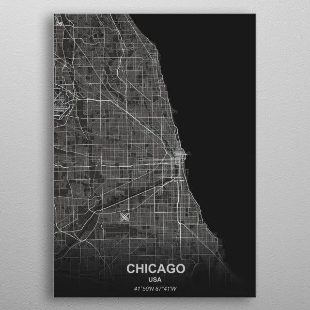 Chicago - USA metal poster