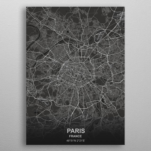 Paris - France metal poster