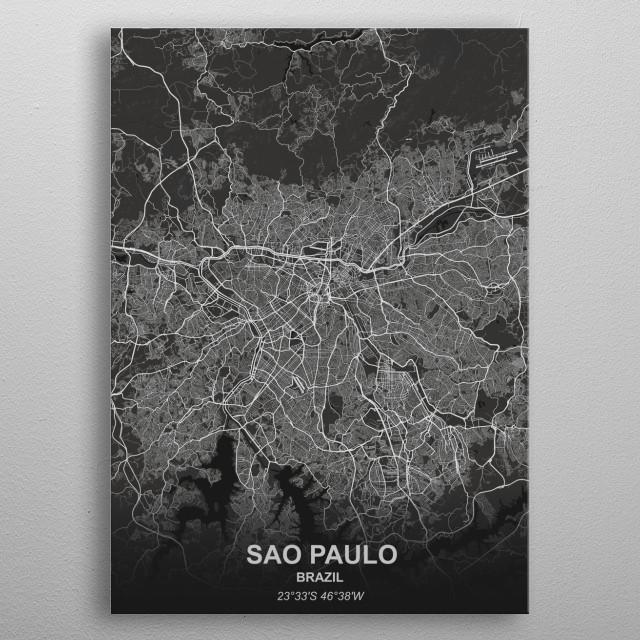 Sao Paulo - Brazil metal poster