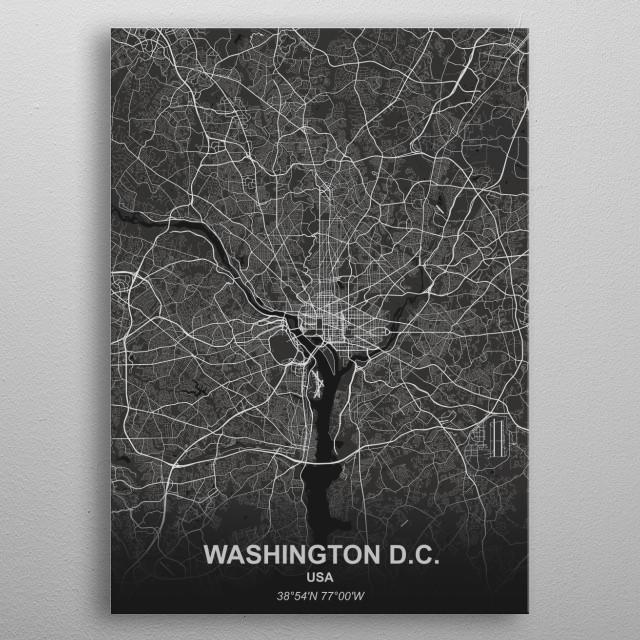 Washington D.C. - USA metal poster