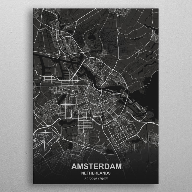 Amsterdam - Netherlands metal poster