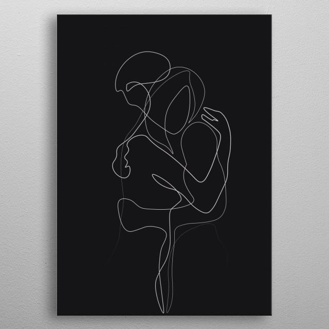 Lovers Dark Version metal poster