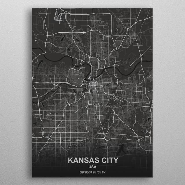 Kansas City - USA metal poster