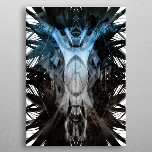 Bones Skulls Texture Art metal poster