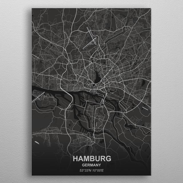 Hamburg - Germany metal poster