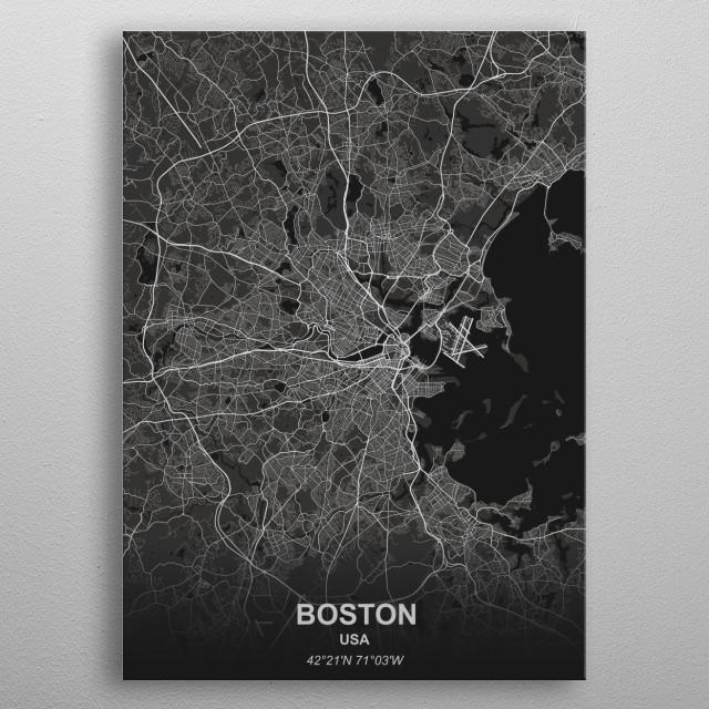 Boston - USA metal poster