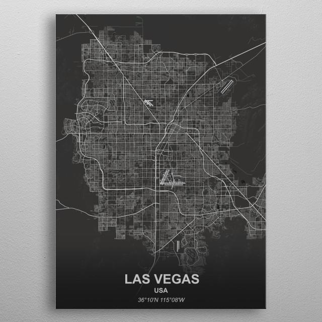 Las Vegas - USA metal poster