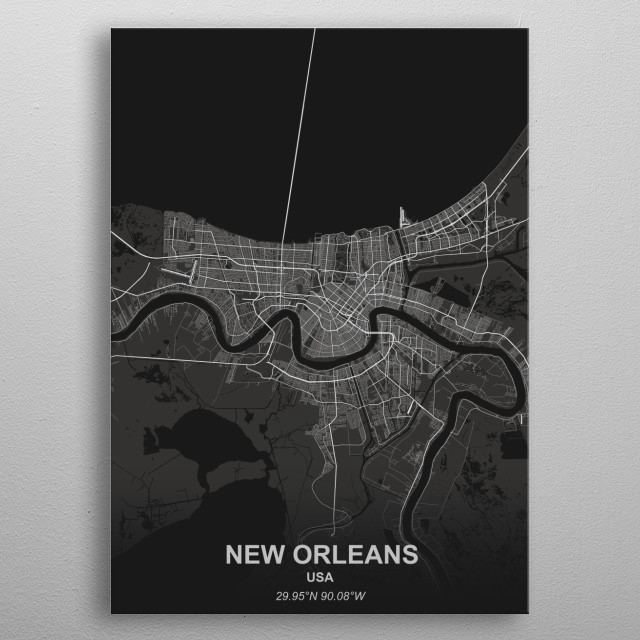 New Orleans - USA metal poster