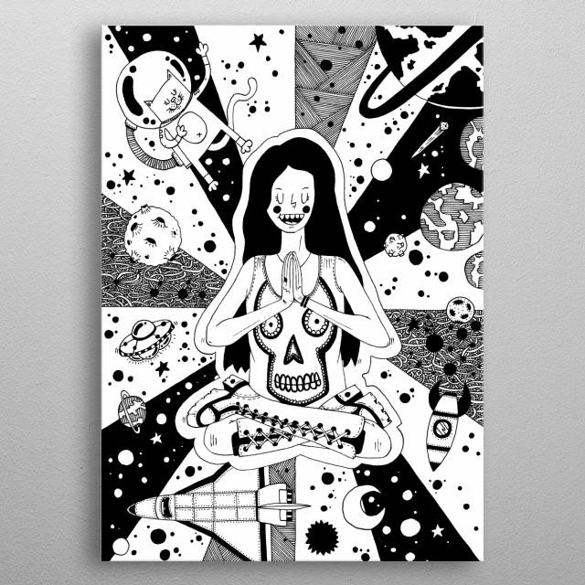 Yoga metal poster