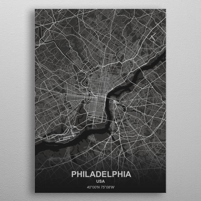 Philadelphia - USA metal poster