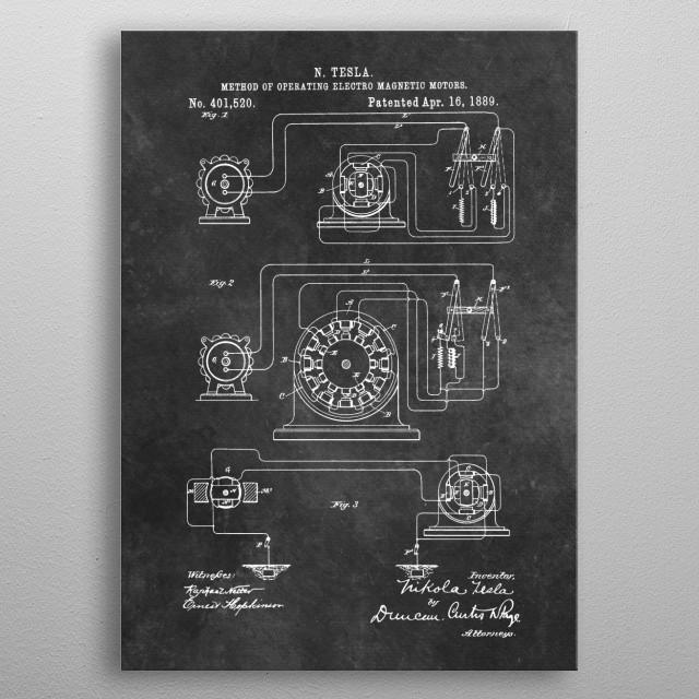Tesla Method of operating electro.. metal poster