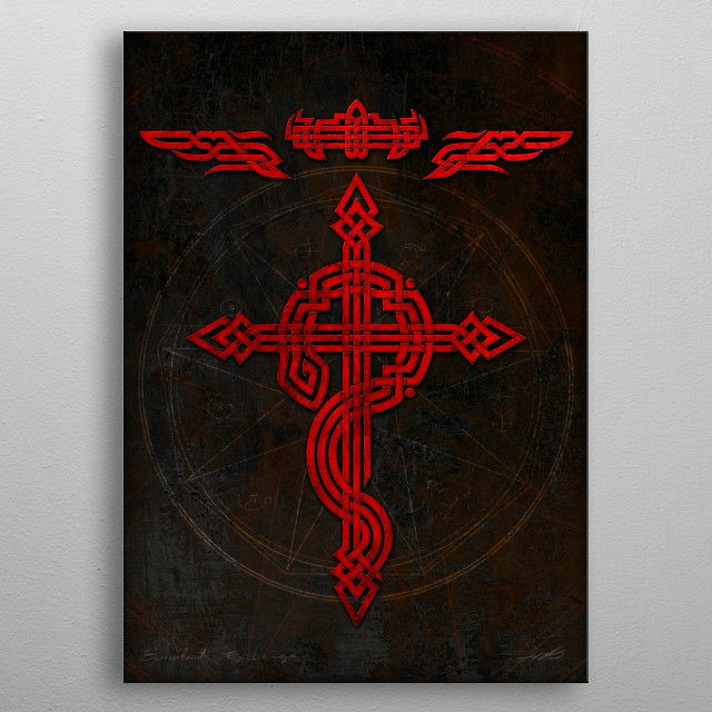 Full Celtic Alchemist metal poster