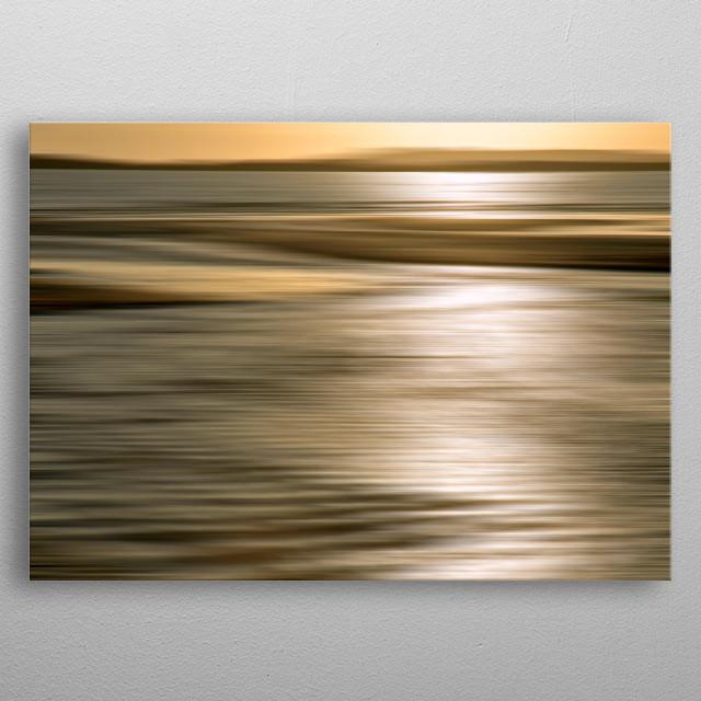 Golden Sea metal poster
