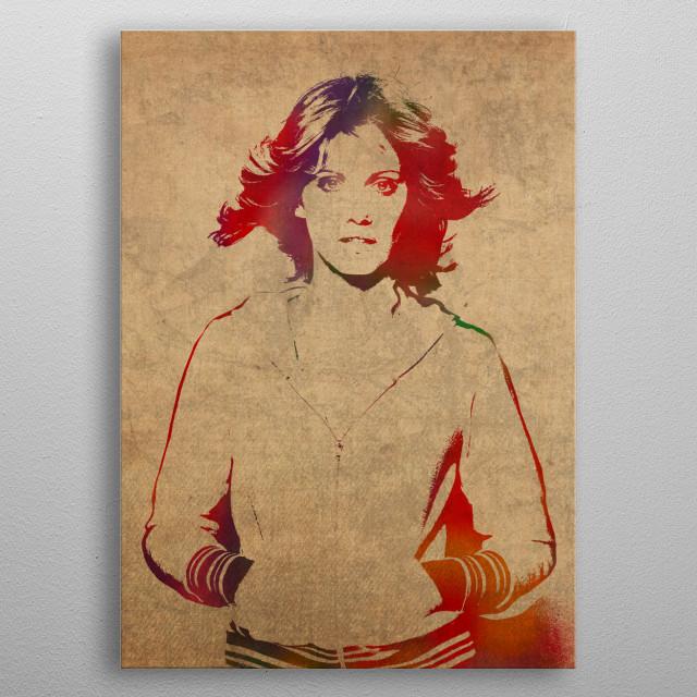 Olivia Newton-John metal poster