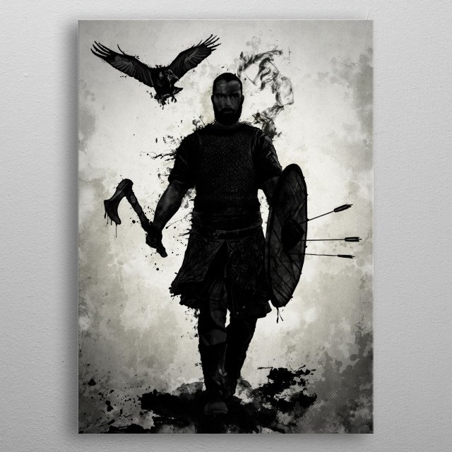 To Valhalla metal poster